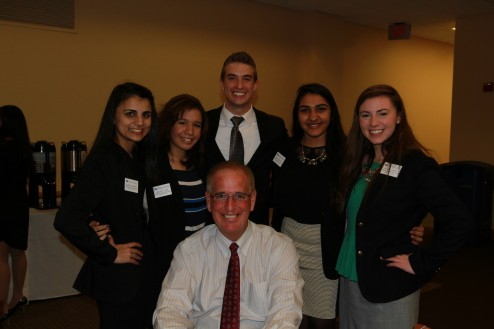 Some our great student leaders with President and COO of Wakefern Corporation, Joe Sheridan