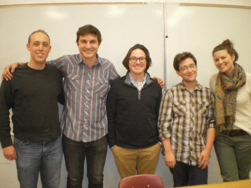 Attached photo, from left to right are: Michael Hebert, Evan Dembkowski, Matthew Deakin, Thomas Zuber and Ellie Frazier, current MA students in Fordham University's Graduate Program in International Political Economy and Development (Fordham | IPED)