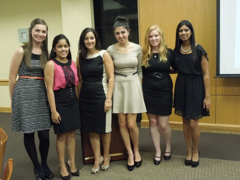 Rosalie Mandel with the Women's Leadership Program founding team (From L to R: Allison Kruse, Dhara Patel, Rosalie Mandel, Noel Girgenti, Rowena Klein, and Sheena Shah) Photo courtesy of Michael Reuter