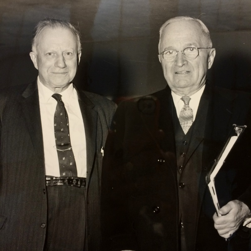 Clark Eichelberger and Harry Truman
