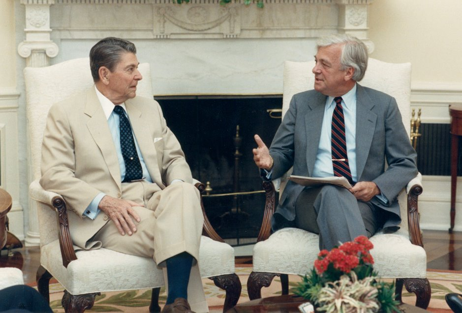 John C. Whitehead with President Ronald Reagan