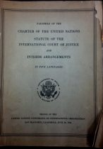 The first printing of the UN Charter, by the US State Department in June 1945