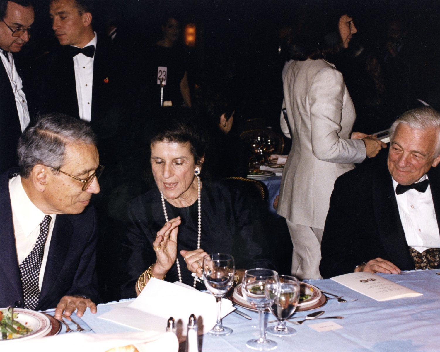 Boutros Boutros Ghali, Lea Rabin and John C. Whitehead