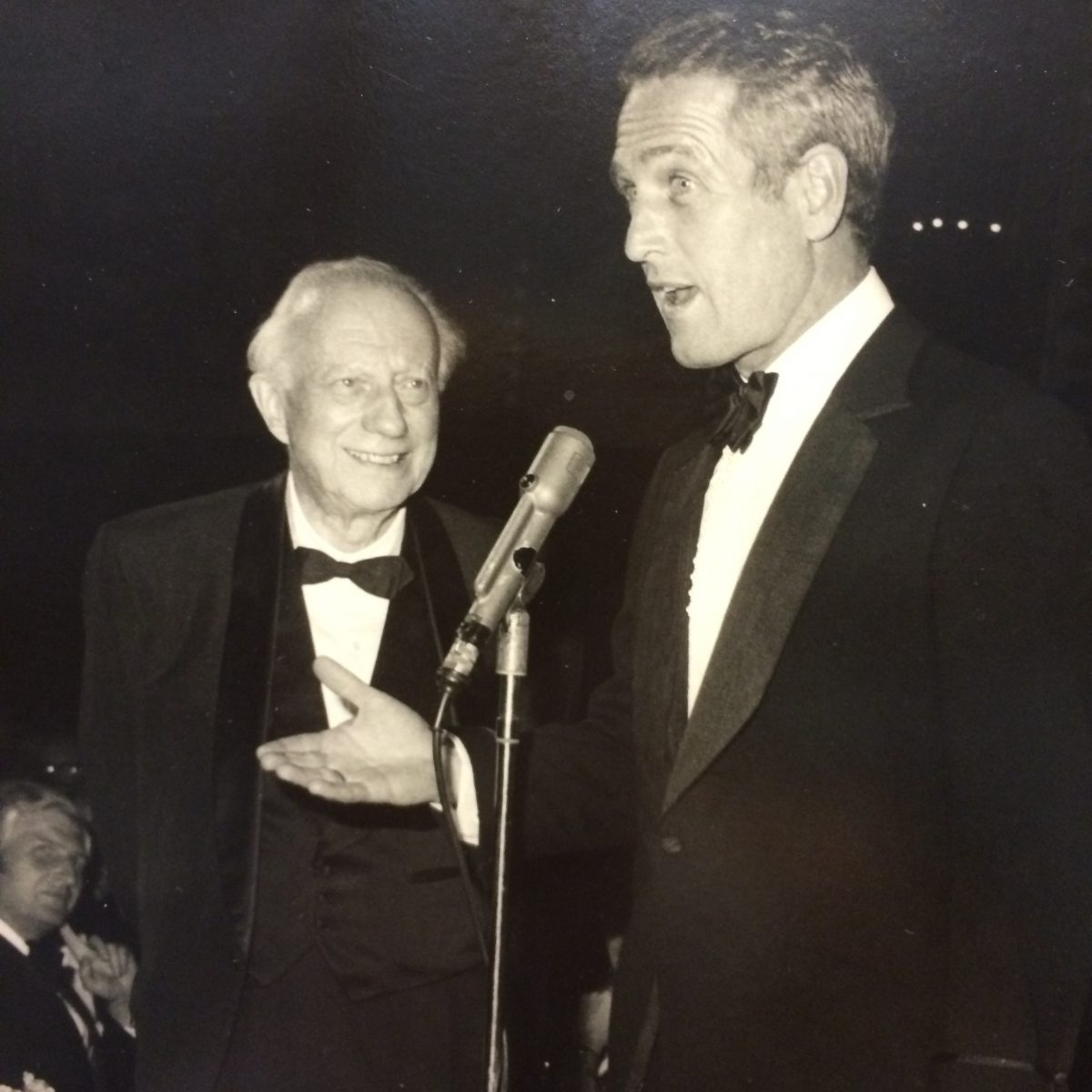 Clark Eichelberger with Paul Newman