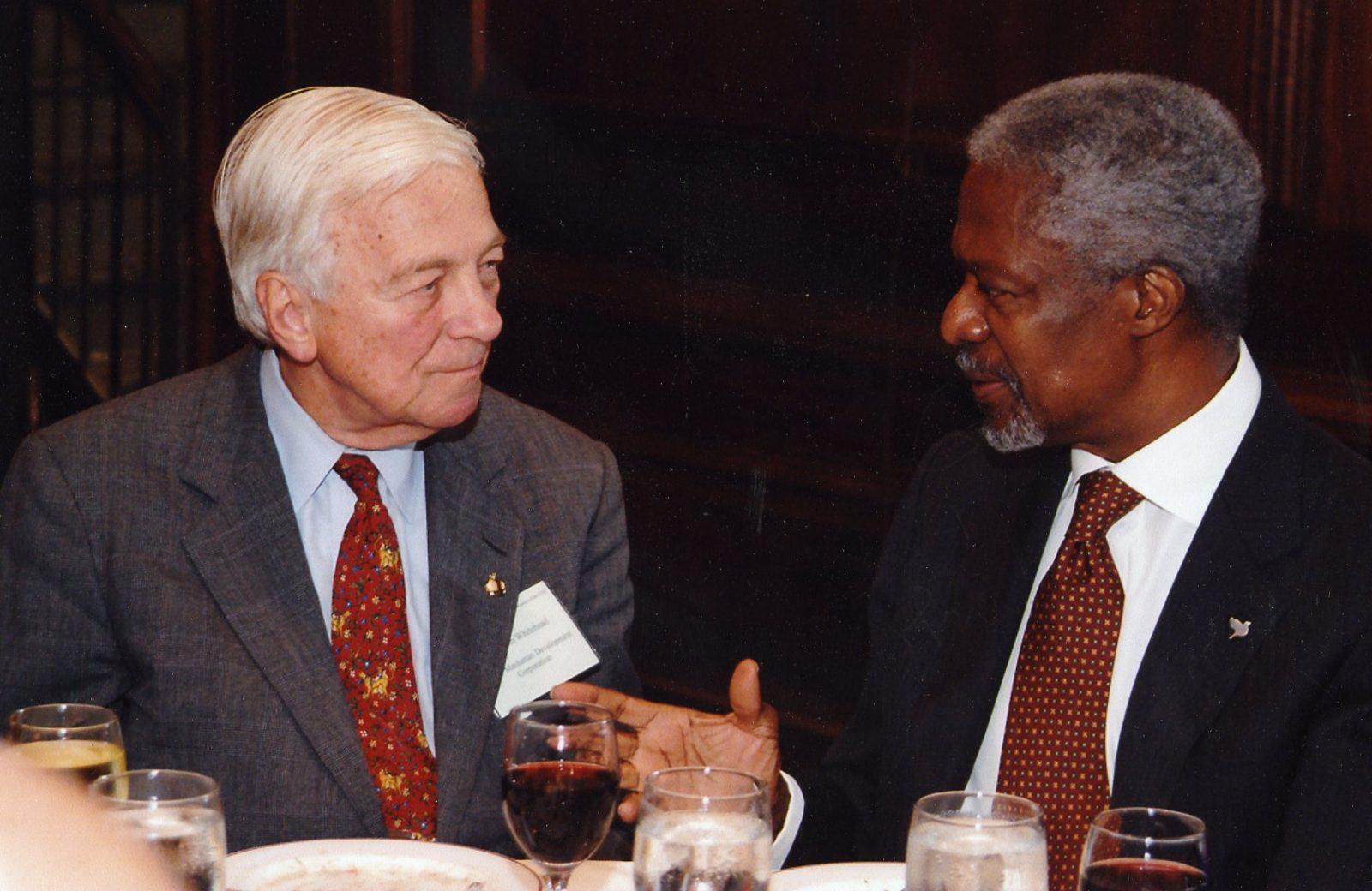 John C. Whitehead and Kofi Annan