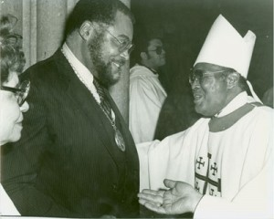 Bishop Francis and James Earl Jones
