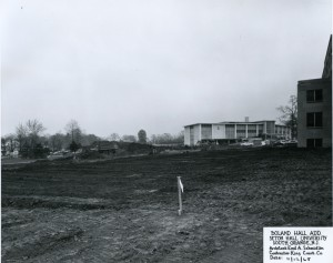 Addition to Boland Hall- progress of construction, 1965.