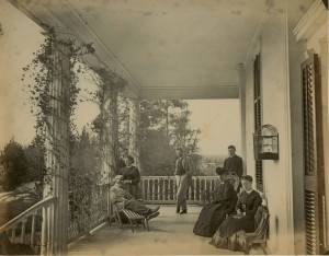 Image 42 from the Seton family photo album, depicting the Setons at their home