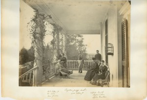 Image 42 from the Seton family photo album, depicting the Setons at their home, original scan