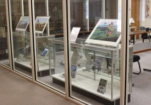 Teaser exhibit of WWI materials at the Archives and Special Collections Center.
