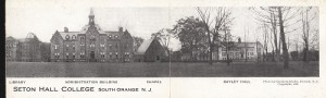 Seton Hall College panoramic postcard, 1916
