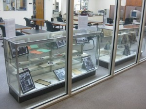 Leonard Dreyfuss materials on display in the Archives Reading Room