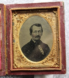 Ambrotype portrait of an unidentified man, image only, from the Archdiocese of Newark photographs