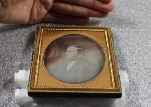 Daguerreotype portrait of an unidentified man, distinguishing format, from the Archdiocese of Newark photographs