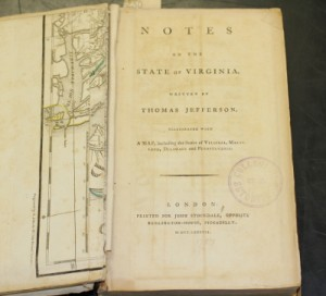 Notes on the State of Virginia, opened to title page