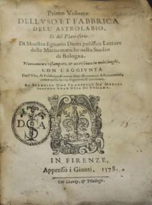 Ignazio Danti title page