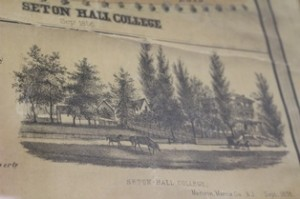 drawing of Seton Hall College, Madison, Sept. 1856
