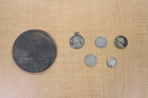 Coins and Immaculate Conception Seminary medal