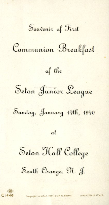 Communion breakfast of the Seton Junior League