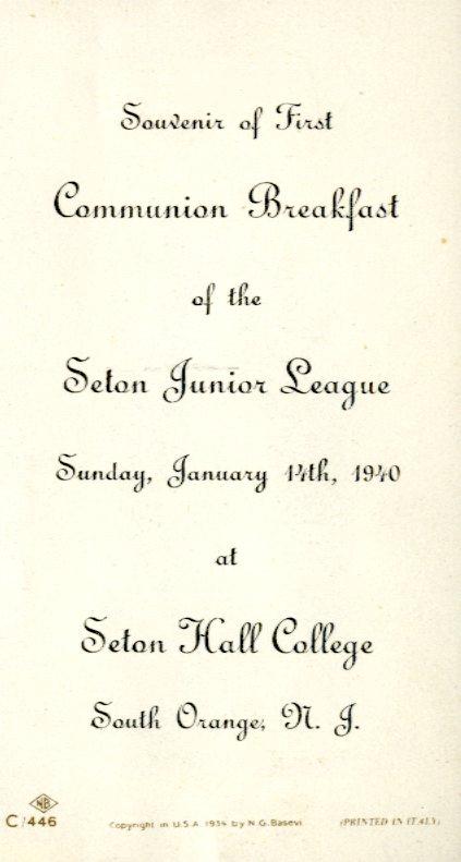 Communion breakfast of the Seton Junior League