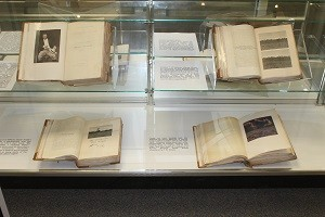 Books displayed in angling and hunting exhibit