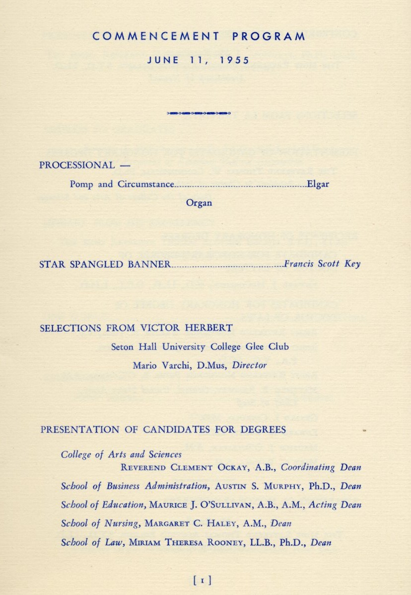Commencement Program, June 11, 1955