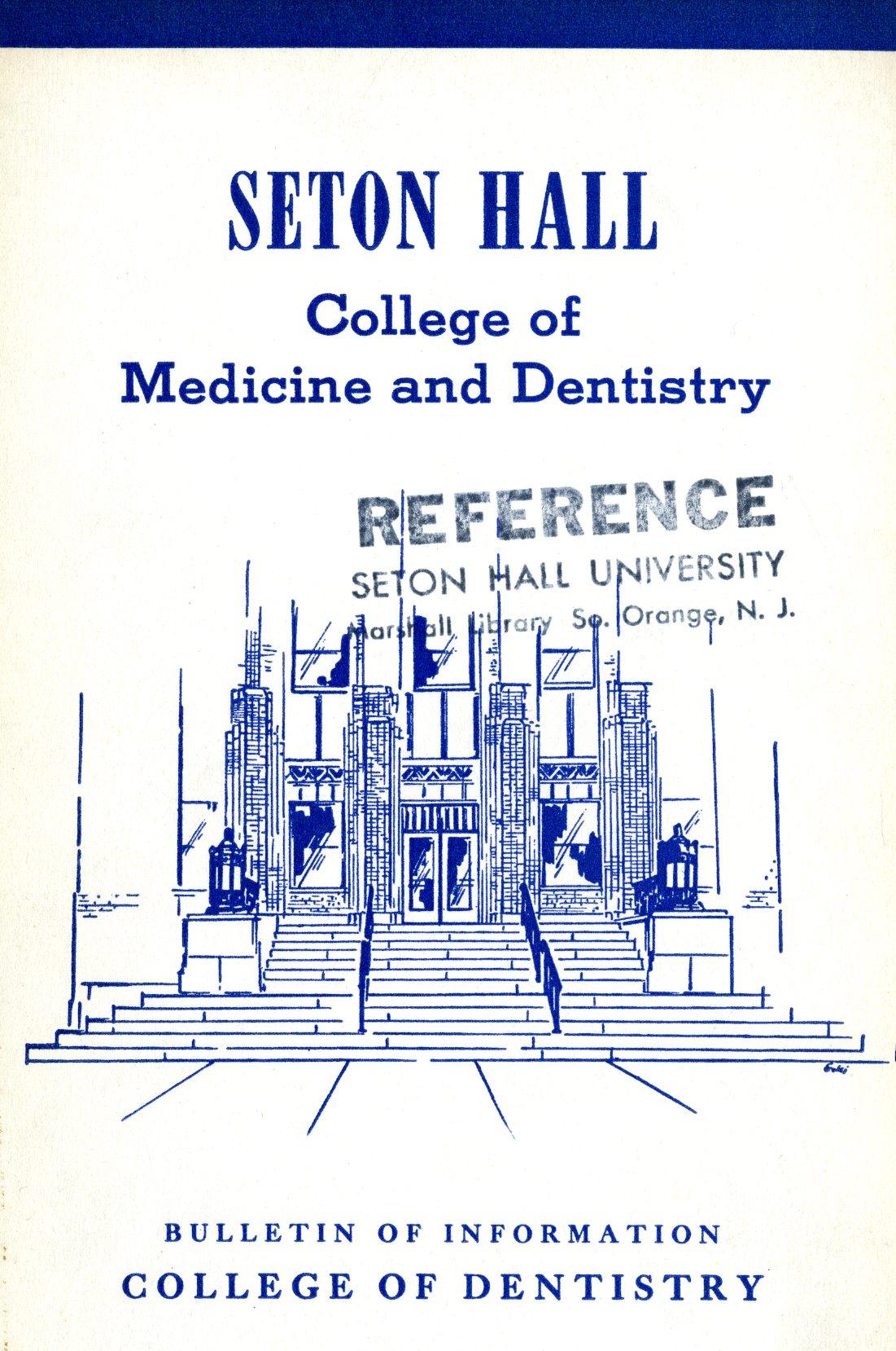 Seton Hall college of medicine and dentistry