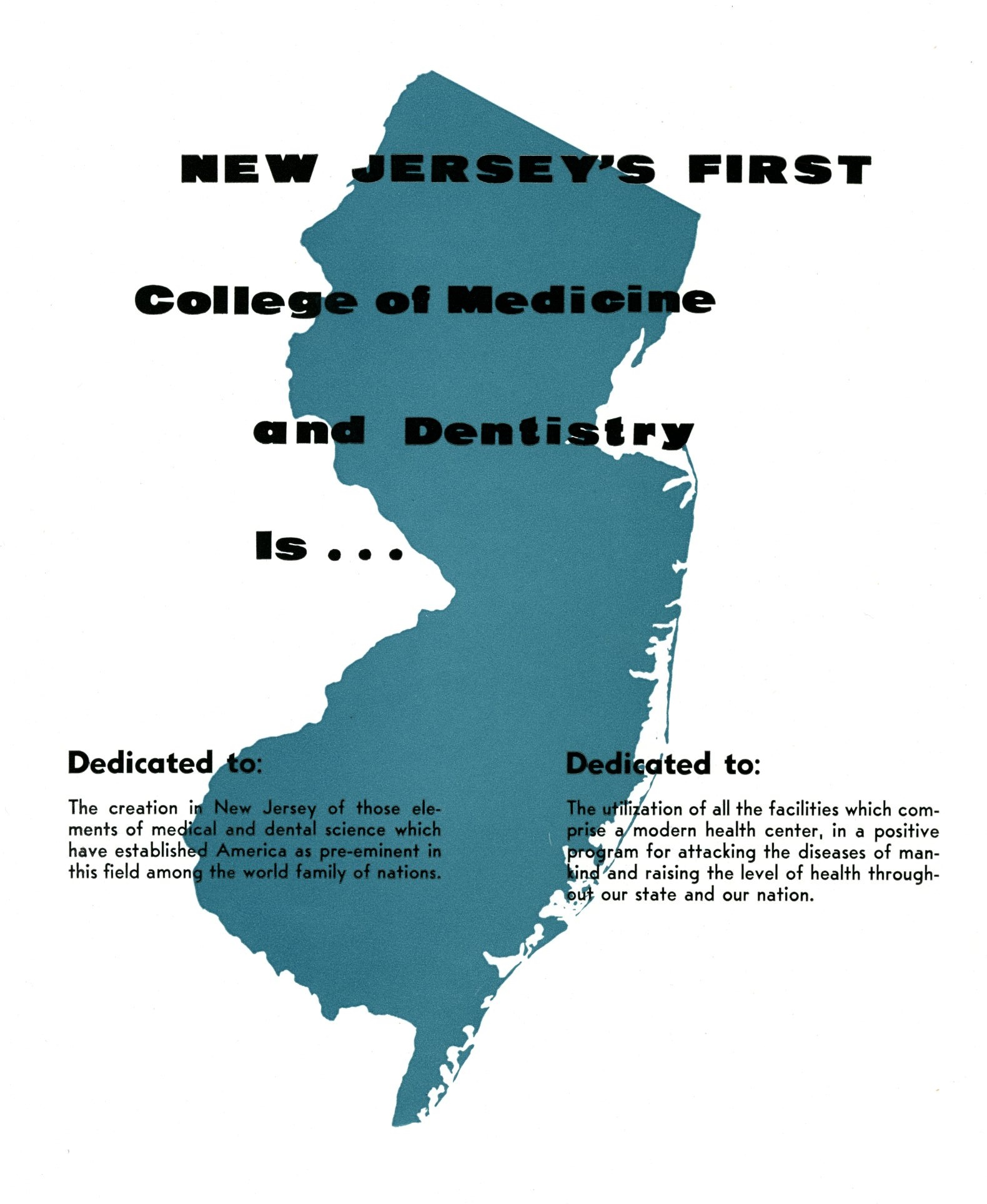New Jersey's first college of medicine and dentistry