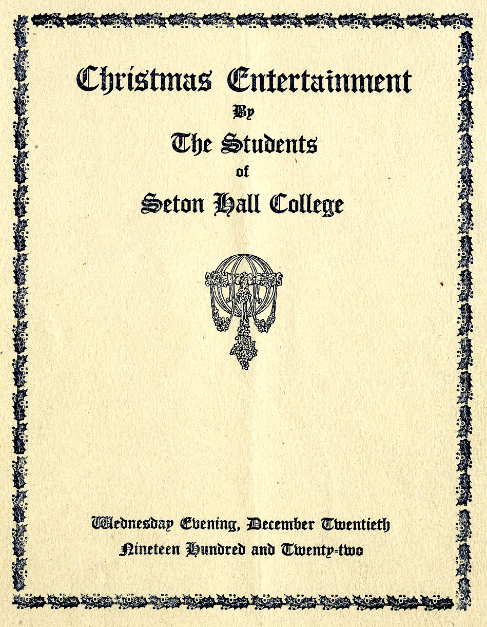 Christmas entertainment by the students of Seton Hall College