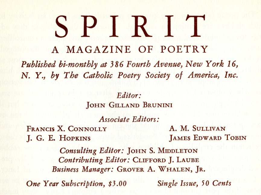 spirit, a magazine of poetry