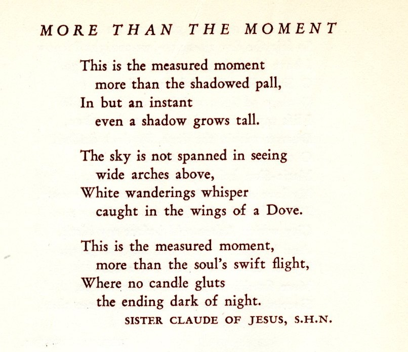 more than the moment poem