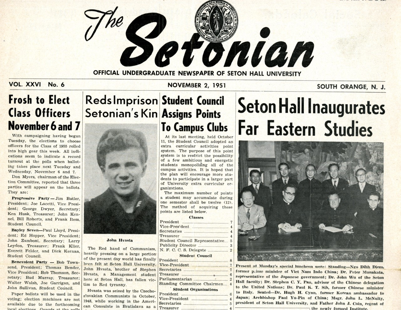 The Setonian_Seton Hall inaugurates Far Eastern Studies