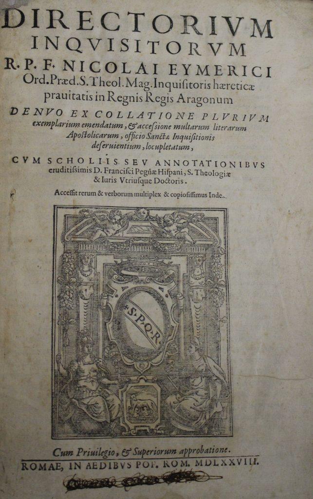 Directorium inquisitorum R.P.F. Nicolai Eymerici