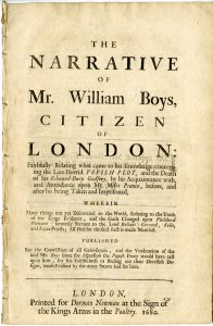 The narrative of Mr. William Boys, citizen of London