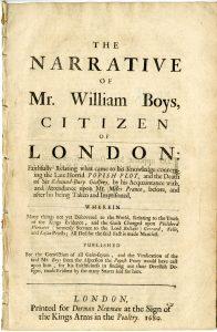 The narrative of Mr. William Boys, citizen of London