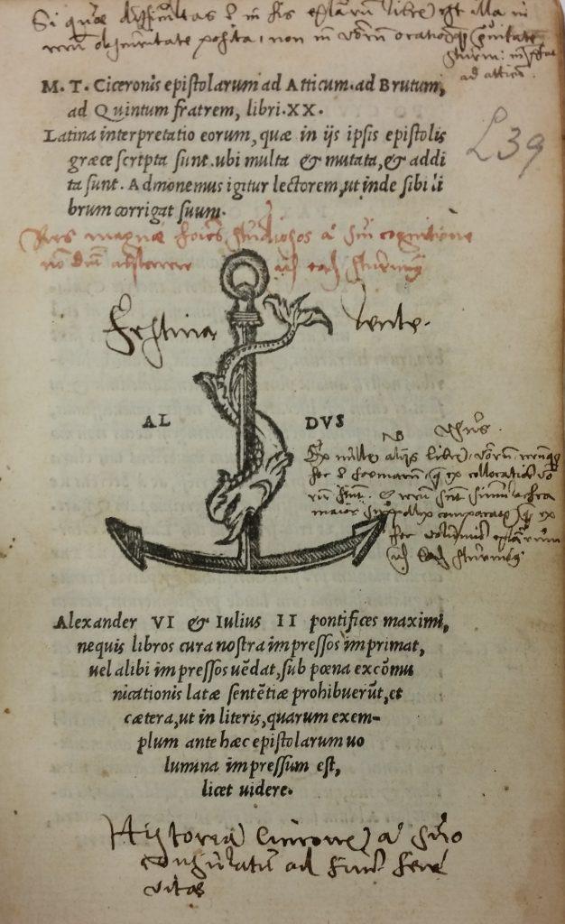 M.T. Ciceronis epistolarum ad Atticum, ad Brutum // ad Quintum fratrem, libri XX.