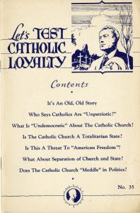 Let's test Catholic loyalty