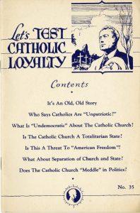 Let's test Catholic loyalty