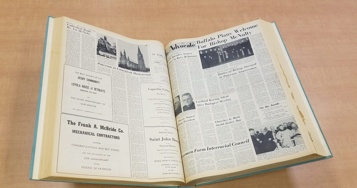 Newark's Catholic Advocate Now Digitized and Searchable
