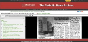 Screenshot of Catholic News Archives