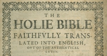Douai-Rheims Bible – Revolutionary Catholic Text in Context