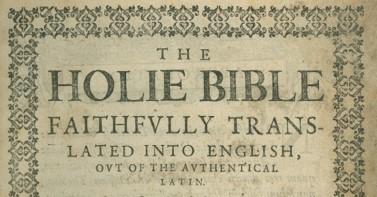 Douai-Rheims Bible – Revolutionary CatholicText in Context