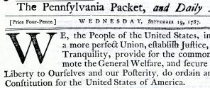 U.S. Constitution – Examples From Archives and Special Collections