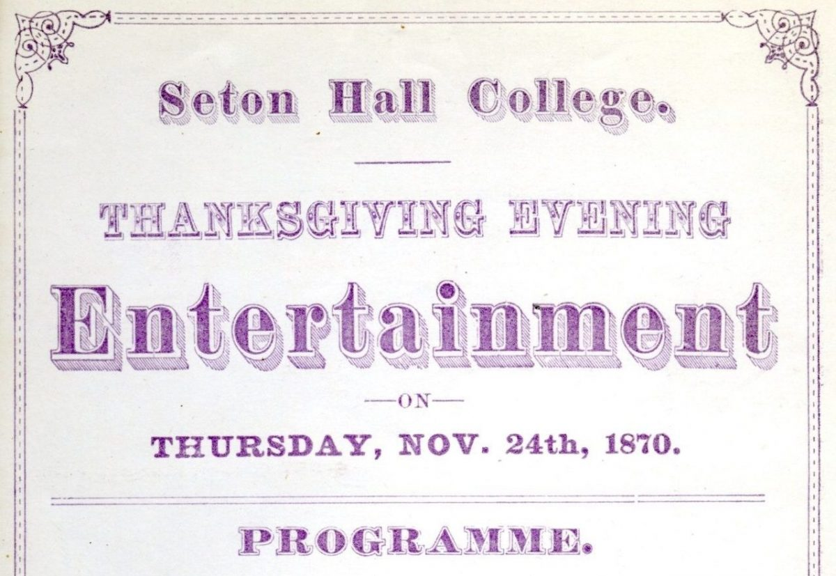 Thanksgiving at Seton Hall During the 19th Century