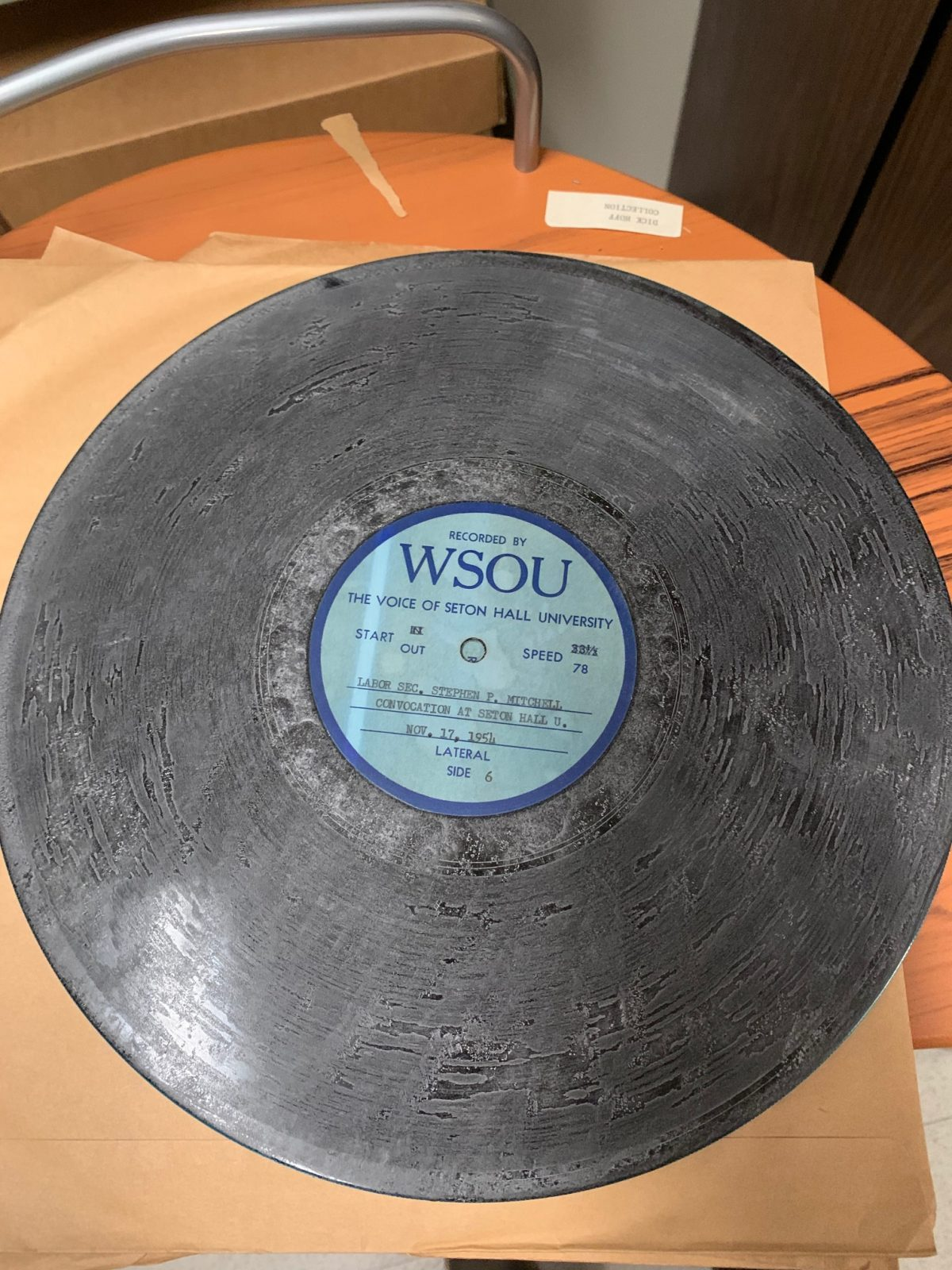 photo of damaged record