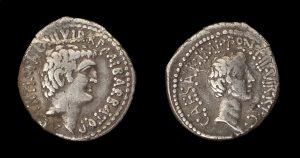 Denarius of Antony and Octavian