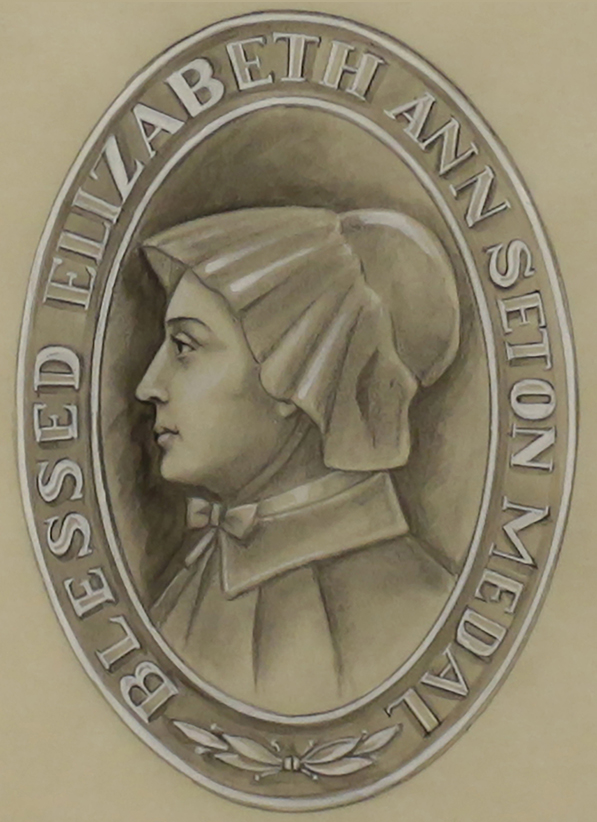 Object of the Week: Sketch of Mother Seton Medal