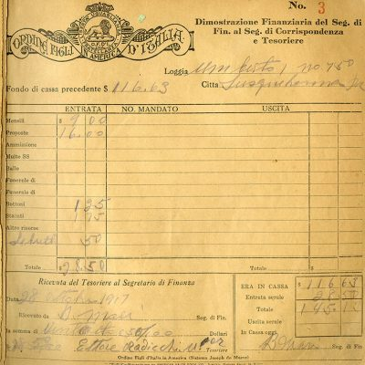 Monthly Report of the Financial Secretary, 28 October 1917.