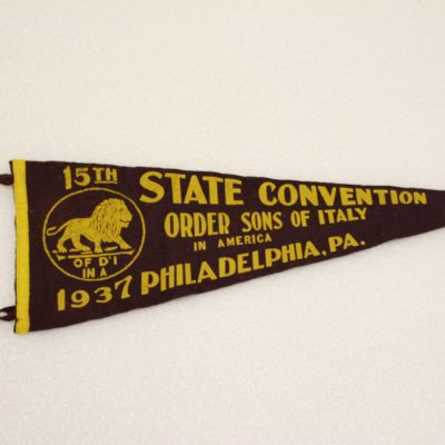 Image of a Order Sons of Italy pennant.