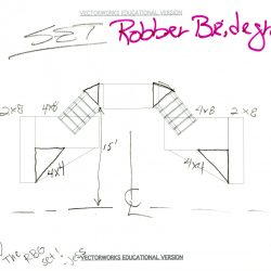 """""""Robber Bridegroom"""" Vectorworks Drawing, undated"""